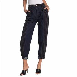 Etica Lana Pinstriped Trouser Size 28